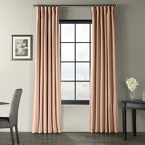 Signature Blackout Velvet Rosey Dawn Grey 50 x 96-Inch Curtain Single Panel