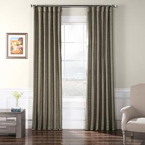 Faux Raw Silk Nighthawk 84 x 50-Inch Curtain Single Panel