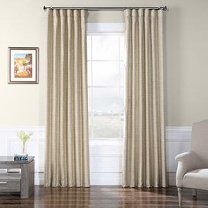 Faux Raw Silk Sandpiper Tan 96 x 50-Inch Curtain Single Panel