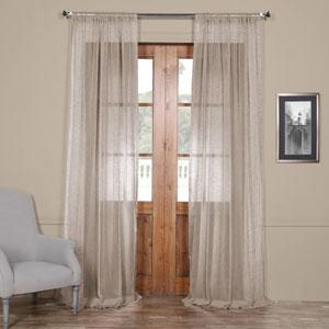 Open Weave Grey 120 x 50 In. Linen Sheer Curtain