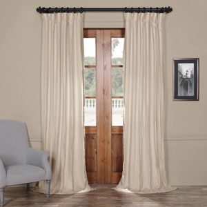 French Grey 84 x 50 In. Linen Curtain Panel