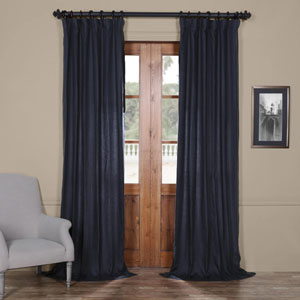 French Navy 96 x 50 In. Linen Curtain Panel