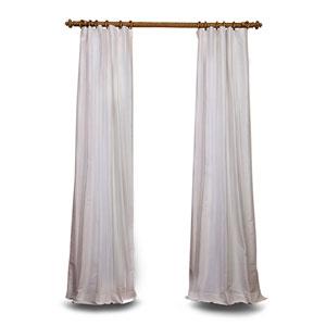 White 84 x 50 In. Textured Dupioni Silk Single Panel Curtain