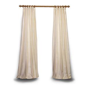 Pearl 108 x 50 In. Textured Dupioni Silk Single Panel Curtain
