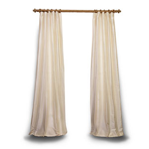 Pearl 120 x 50 In. Textured Dupioni Silk Single Panel Curtain