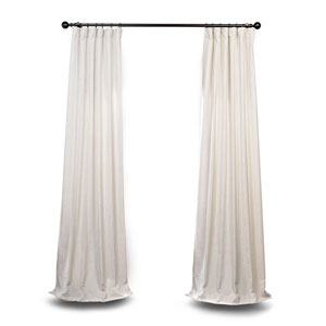 Ivory 96 x 50 In. Curtain Single Panel