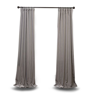 Pewter Gray 120 x 50 In. Curtain Single Panel