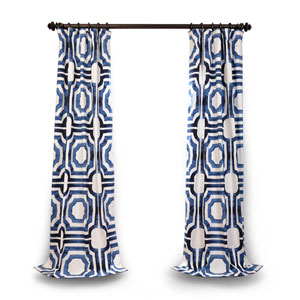 Blue 96 x 50 In. Curtain Single Panel