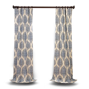 Blue 120 x 50 In. Curtain Single Panel