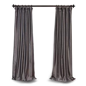 Graphite 84 x 50 In. Blackout Faux Silk Taffeta Curtain Single Panel