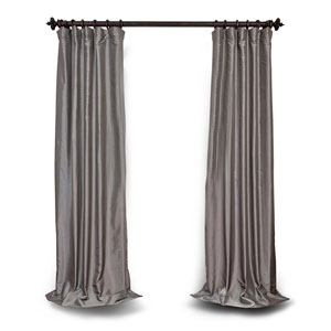 Platinum 120 x 50 In. Blackout Faux Silk Taffeta Curtain Single Panel