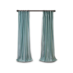 Light Blue 84 x 50 In. Blackout Faux Silk Taffeta Curtain Single Panel