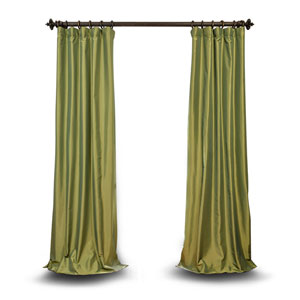 Green 108 x 50 In. Faux Silk Taffeta Single Panel Curtain