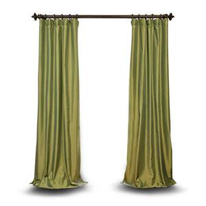 Green 84 x 50 In. Faux Silk Taffeta Single Panel Curtain