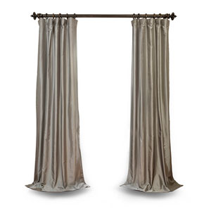 Platinum 120 x 50 In. Faux Silk Taffeta Single Panel Curtain