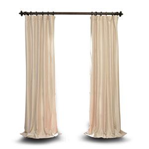 Beige Faux Silk Taffeta Curtain Sample Swatch