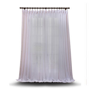Double Layered White 100 x 108 In. Sheer Curtain