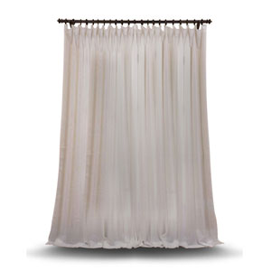 Double Layered Off White 100 x 120 In. Sheer Curtain