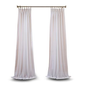 White 108 x 50 In. Faux Linen Sheer Single Panel Curtain Panel