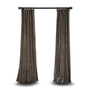 Gray 96 x 50 In. Blackout Curtain Single Panel