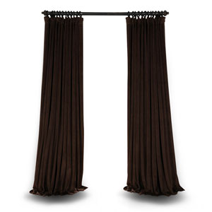 Java Double Wide 96 x 100 In. Velvet Blackout Pole Pocket Single Panel Curtain