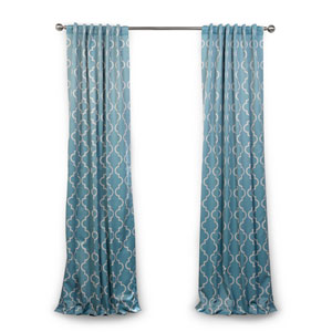 Dusty Teal 84 x 50 In. Blackout Curtain Single Panel