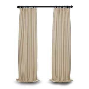 Light Beige 120 x 50 In. Blackout Curtain Single Panel
