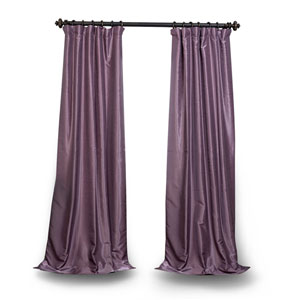 Smokey Purple 108 x 50 In. Vintage Textured Grommet Blackout Curtain Single Panel