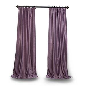Smokey Purple 96 x 50 In. Vintage Textured Grommet Blackout Curtain Single Panel