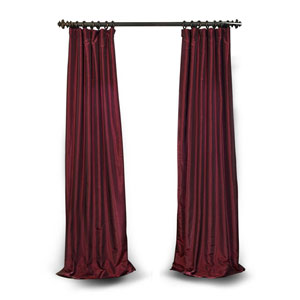 Ruby 120 x 50 In. Vintage Textured Faux Dupioni Silk Single Curtain Panel