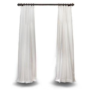 Eggshell 84 x 50 In. Faux Silk Taffeta Single Curtain Panel