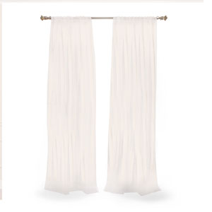 Sheer White 120 x 50 In. Curtain Panel Pair