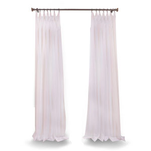 Doublewide Solid White 100 x 96 In. Sheer Curtain