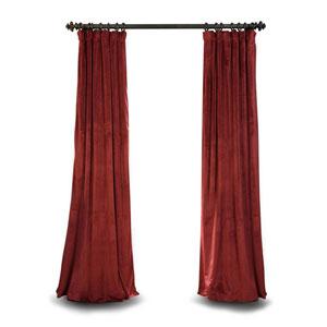 Burgundy Blackout 96 x 50 In. Velvet Single Curtain Panel