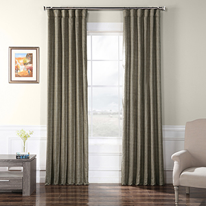 Faux Raw Silk Nighthawk 108 x 50-Inch Curtain Single Panel