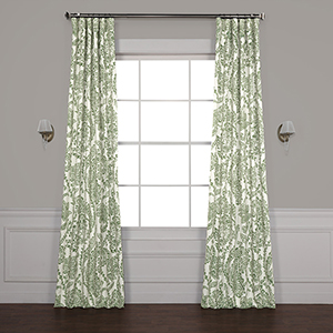 Tea Time Green 108 x 50-Inch Blackout Curtain Single Panel