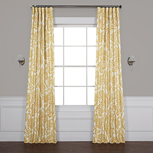 Tea Time Yellow Gold 84 x 50-Inch Blackout Curtain Single Panel
