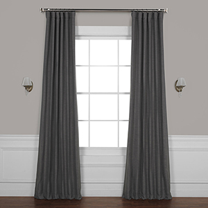 Armour Grey 120 x 50 In. Bellino Blackout Curtain Single Panel