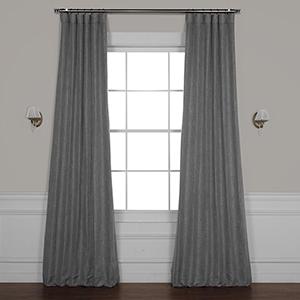 Blazer Grey 108 x 50 In. Faux Linen Blackout Curtain Single Panel