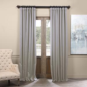 Fog Grey 108 x 100-Inch Extrawide Blackout Curtain Single Panel