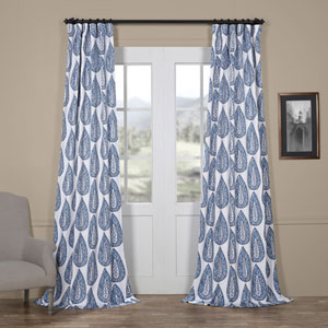 Blue Large Medallion 84 x 50 In. Blackout Curtain Single Panel