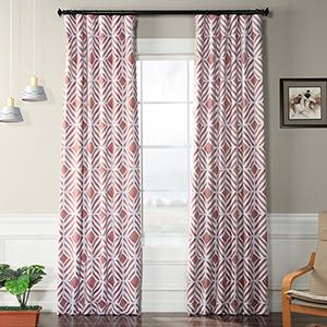 Blackout Rod Pocket Pink 50 x 96-Inch Curtain Single Panel
