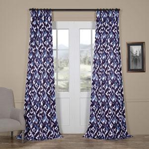 Splatter Blue 93 x 50 In. Blackout Curtain Single Panel
