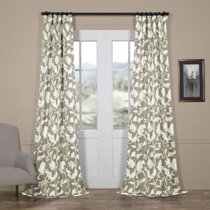 Sweet Pea Grey 96 x 50 In. Blackout Curtain Single Panel