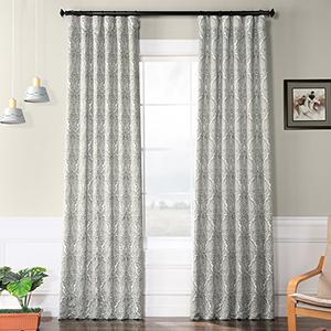 Blackout Rod Pocket Amara Green 50 x 108-Inch Curtain Single Panel