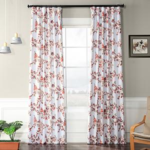 Blackout Rod Pocket Rose Pink 50 x 120-Inch Curtain Single Panel