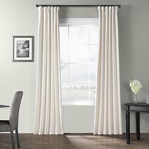 Bark Weave Rod Pocket Ivory 50 x 84-Inch Curtain Single Panel