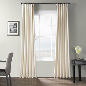 Bark Weave Rod Pocket Pale Ivory 50 x 108-Inch Curtain Single Panel