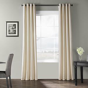 Bark Weave Grommet Pale Ivory 50 x 96-Inch Curtain Single Panel