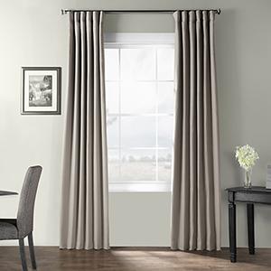 Bark Weave Rod Pocket Stardust Gray 50 x 108-Inch Curtain Single Panel